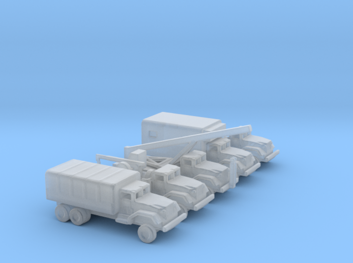 1/285 Scale M54 Truck Set 3d printed