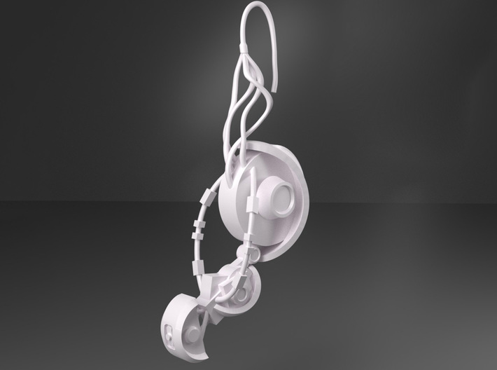 GLaDOS Earring 3d printed