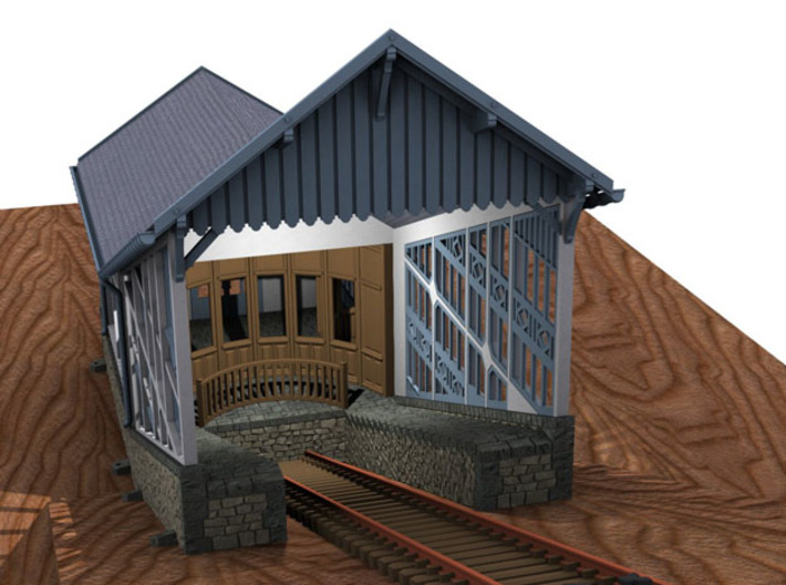 HOfunMD24 - Mont Dore funicular station 3d printed