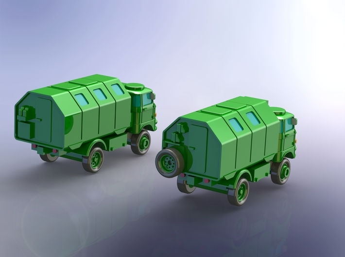 GDR IFA W-50 3to  Truck w. Koffer / Box Body 1/144 3d printed