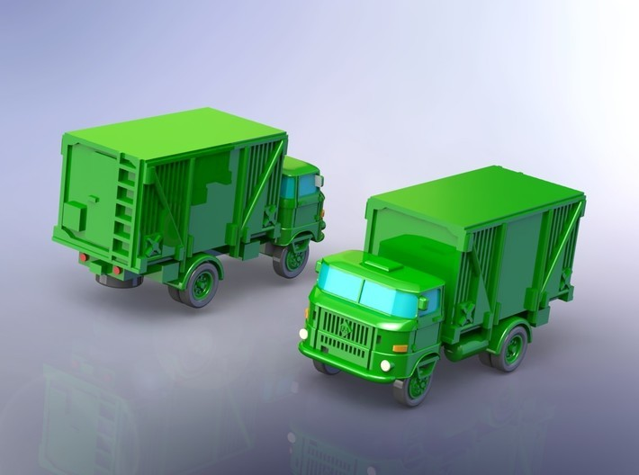 GDR IFA W-50 3to Truck w. Faltkoffer 1/144 3d printed