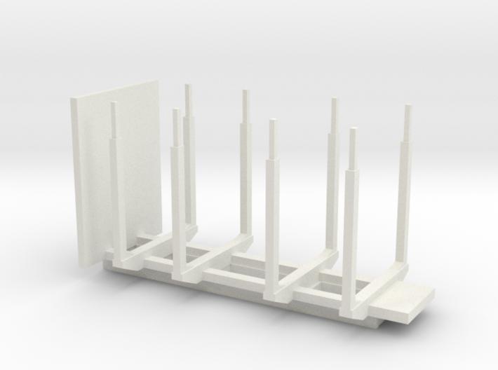 hout / holz / transporter for crane 3d printed
