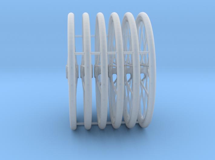 x6 1/18 bicycle wheels 3d printed