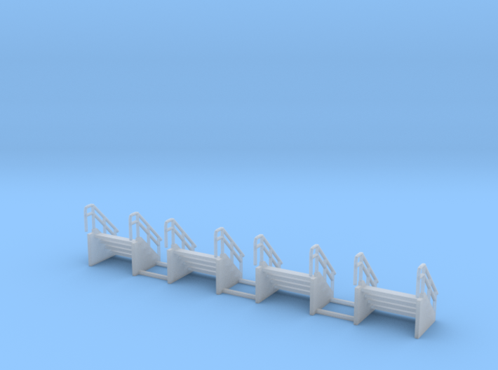 Engine shop stairs z scale 3d printed 4 stairs z scale