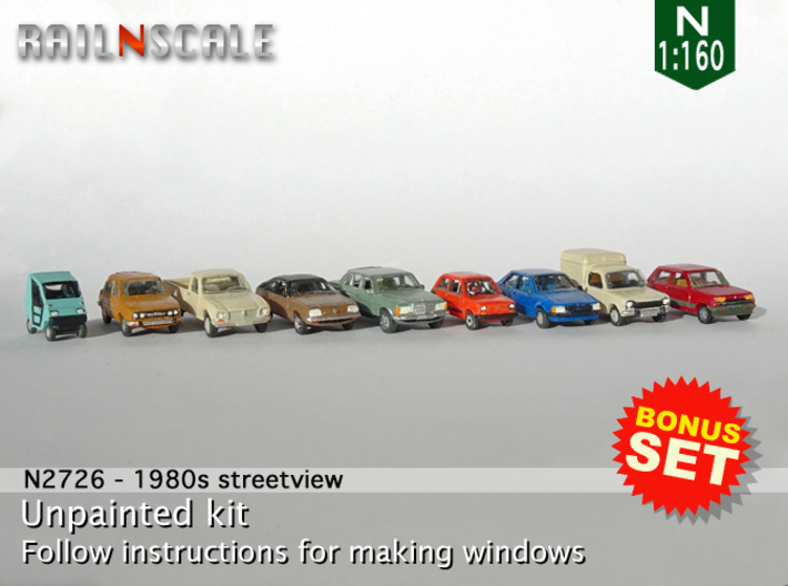 BONUS SET 1980s street view​ (N 1:160) 3d printed