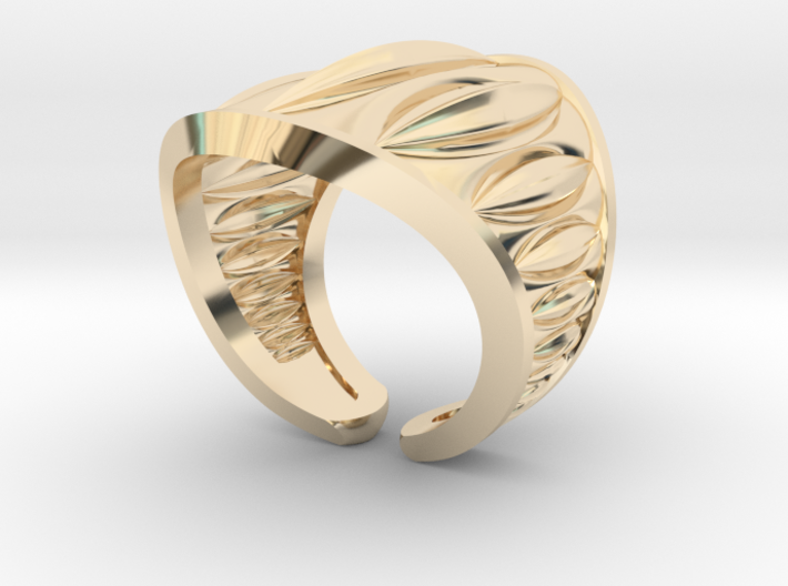 Cocoa Pod Ring – Size 5 - 8 3d printed