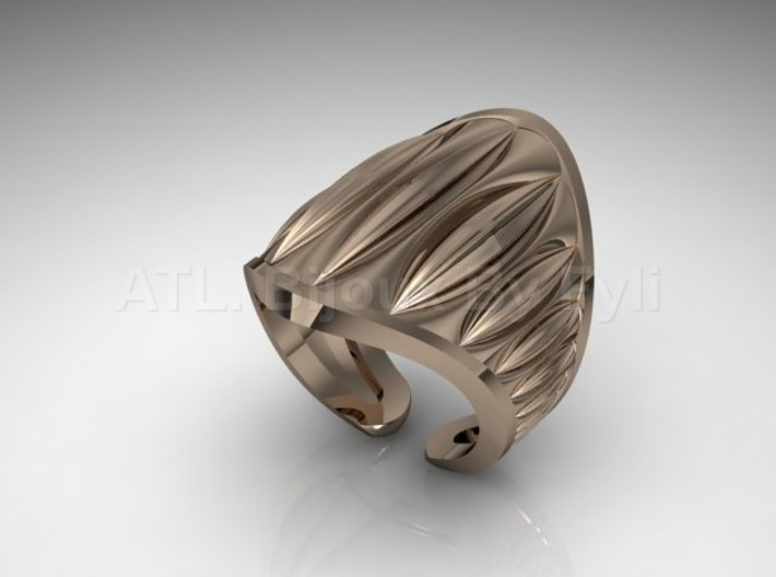 Cocoa Pod Ring – Size 5 - 8 3d printed Rose Gold