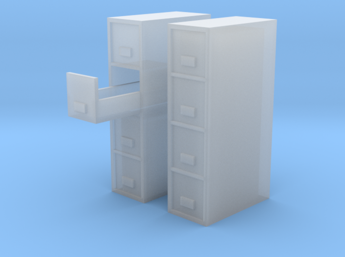 1/64 filing Cabinet 4 drawer 3d printed