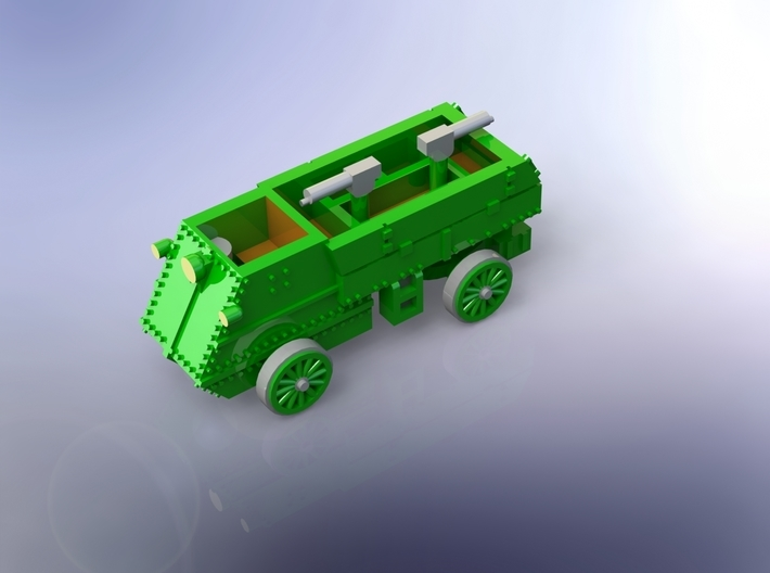 WW I Canadian Autocar Armored Car !/144 3d printed