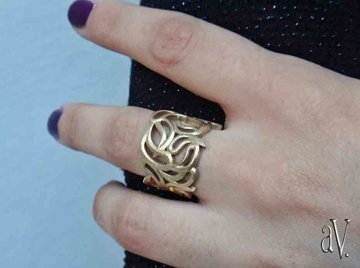 Scatter Drops Ring 3d printed