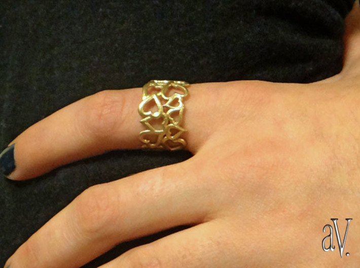 Scatter HeartSmth Ring 3d printed