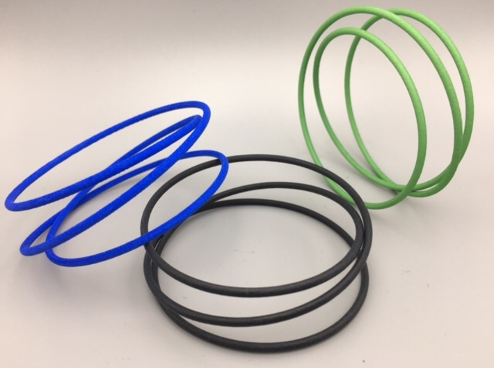 Triple Wrap Bracelet 3d printed Choose your preferred color from the menu on the right