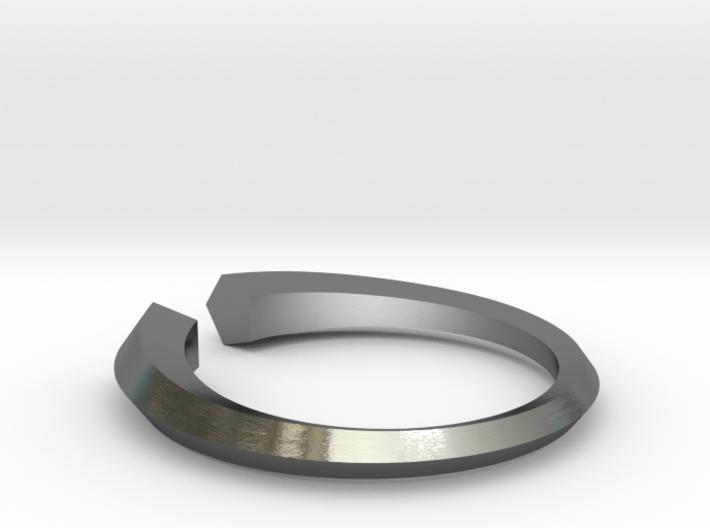 Open Pentagon Ring 3d printed