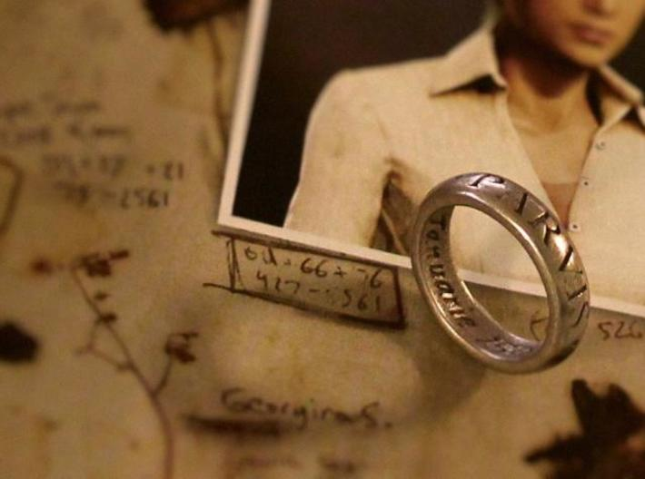 Sir Francis Drake Ring - Uncharted 3 Version 3d printed U3 ring in stainless steel