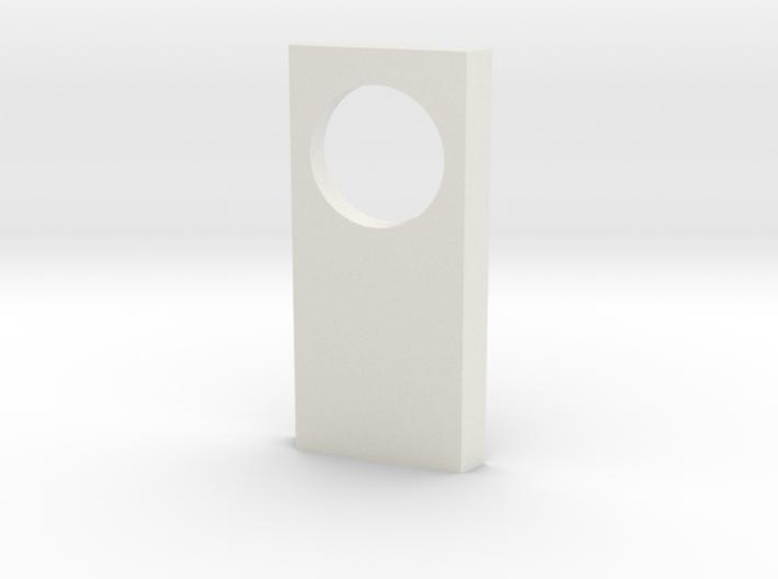 shkr023 - Teil 23 Seitenwand mit Fensterloch rund 3d printed