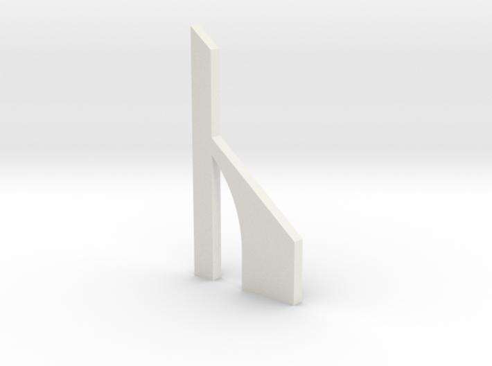 shkr059 - Teil 59 Stützmauerpfeiler breit durchbro 3d printed