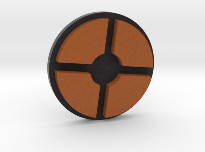 TF2 ® Token: Mercenary (round) 3d printed