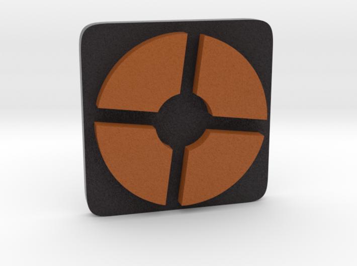 TF2 ® Token: Mercenary (squircle) 3d printed