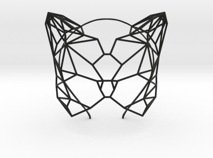 Feline Masquerade Mask 3d printed