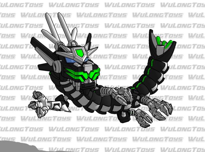 Wu Long Dragon 3d printed Rawr