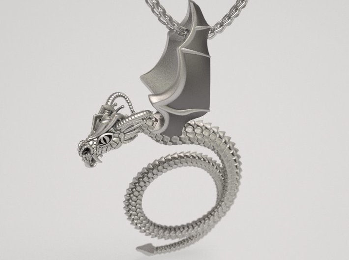 Scary Dragon pendant 3d printed