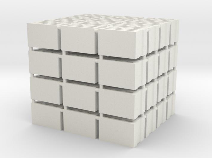 64 Hohlblocksteine (Cinder Blocks) (1 : 45) 3d printed