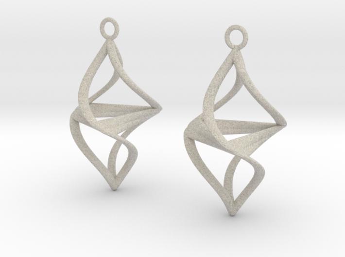 Twister earrings 3d printed