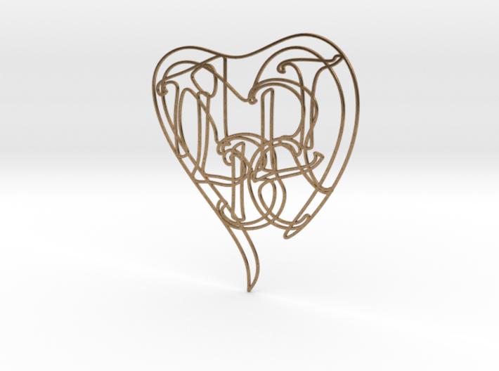 Albert - Personalised 2D Heart 3d printed Albert - Personalised 2D Heart
