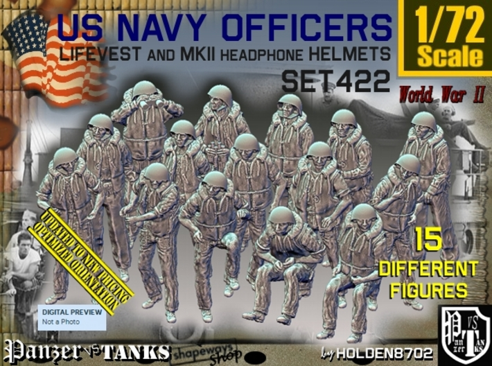 1/72 USN Officers Kapok Set422 3d printed