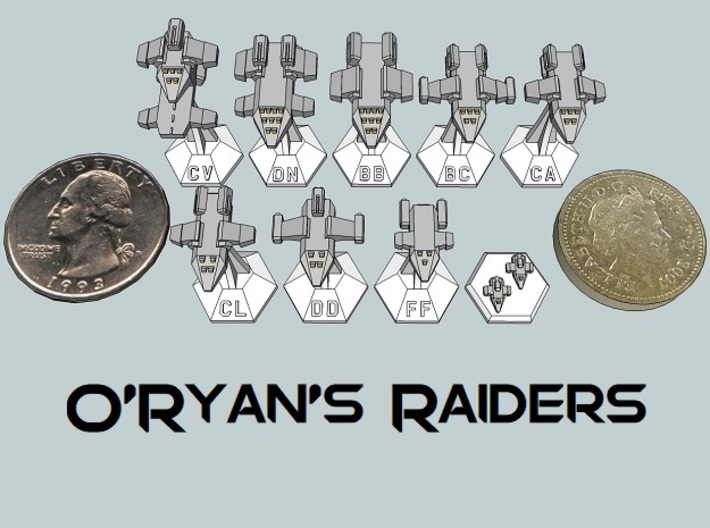 MicroFleet O'Ryan's Raiders Sampler (9pcs) 3d printed