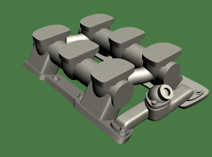 1/25 Olds 6x2 Log Intake, Fits Revell Olds Rocket 3d printed