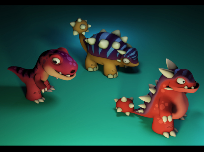 Genetic Dinos Full Color 3d printed