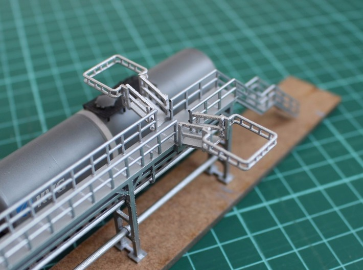 N Scale Tank Car loading Bridge 2x medium 3d printed