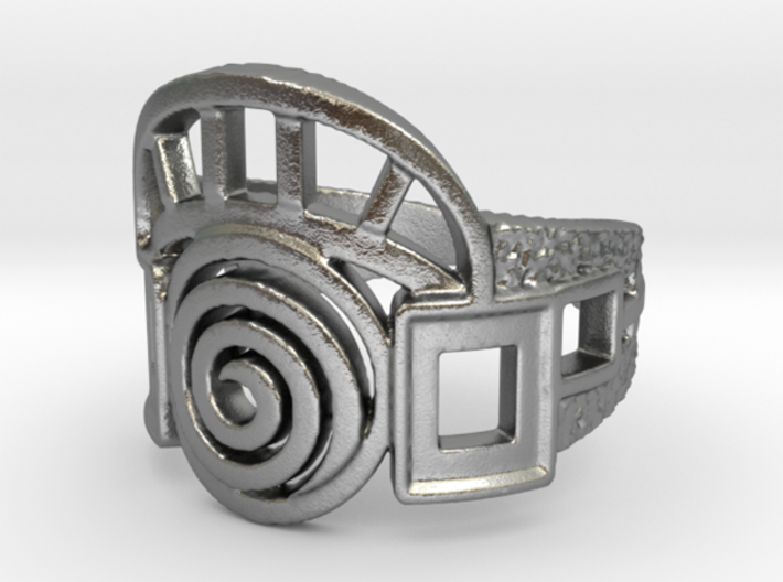 Archway Ring 3d printed Render of the Raw Silver Archway ring