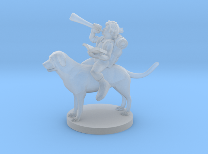 Halfling Bard on a Mount for Download 3d printed