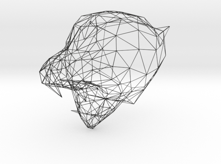 Wireframe Tiger Face (F22E7J5S6) by kumars