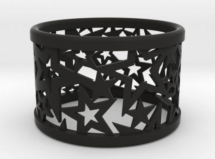 A large Christmas napkin ring with Stars 3d printed