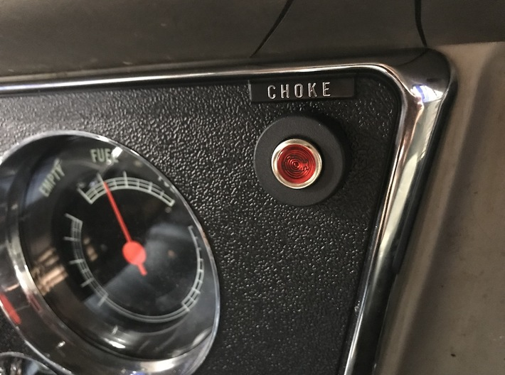 Check Engine Light Bezel for 67-72 Chevrolet C10 T 3d printed Final installation. Note that the light itself IS NOT included