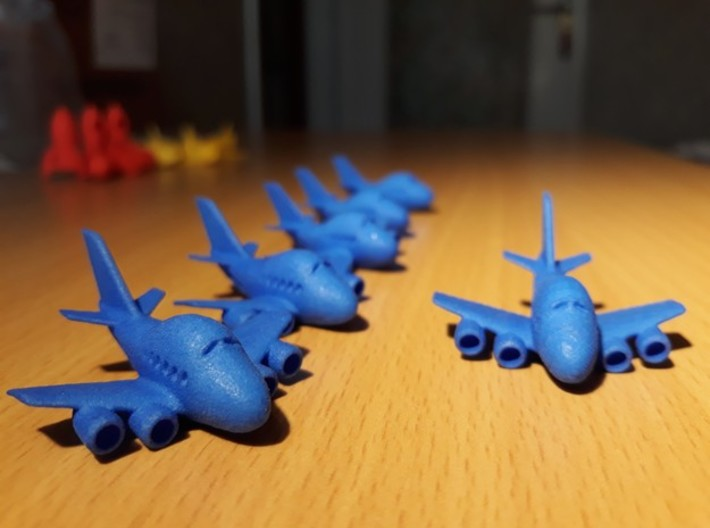 Six funny Boeing 747 plane keychains 3d printed