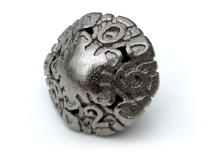 Art Nouveau Die10 3d printed In Polished Nickel Steel