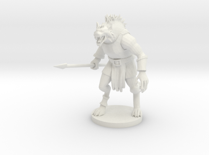 Gnoll (updated) 3d printed