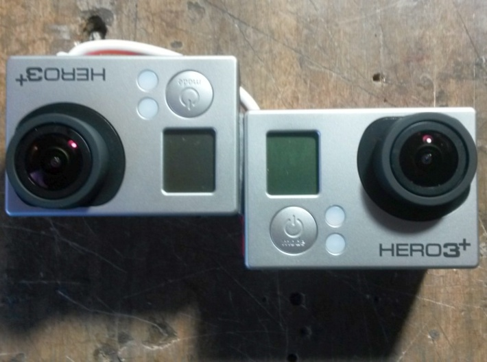 GoPro HERO 3+ 3D System: Wider Lens Separation  3d printed Add your cameras (HERO3+ Black only).