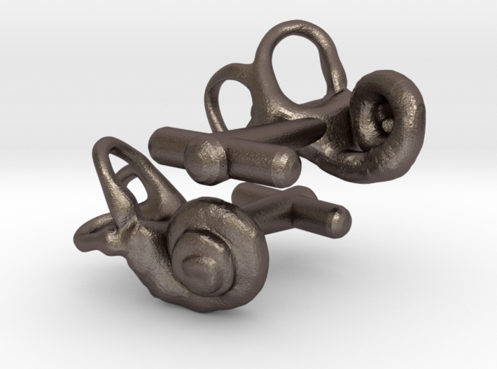 Inner Ear Cufflinks (Pair) 3d printed