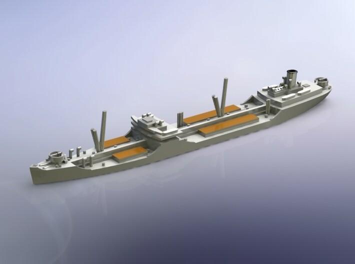 US T2-SE-A1 Standard Tanker w.o. Deckload 1/1250 3d printed