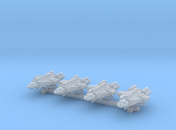 1/1000 Scale 2050 War Falcon Squadron 3d printed