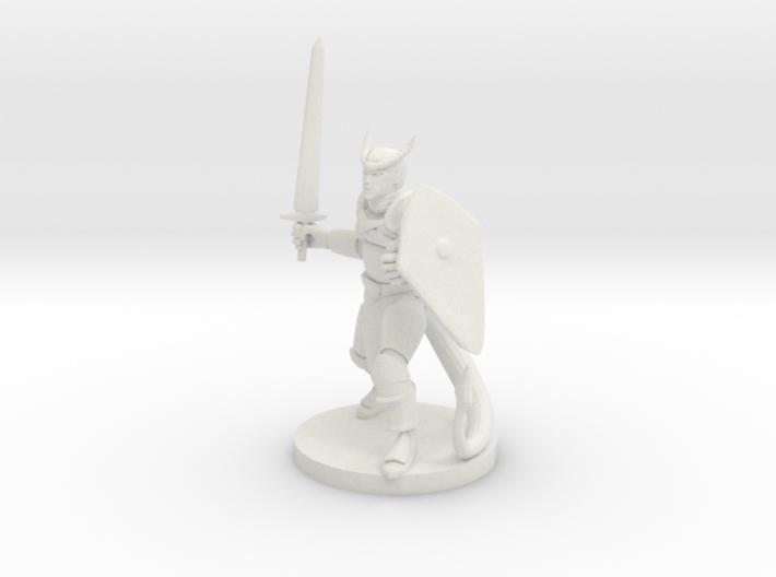 Tiefling Fighter 3d printed