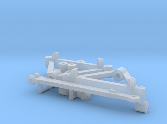 1/64 Wagon Running Gear 3d printed