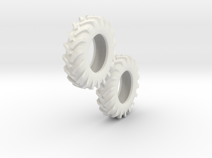 1:64 scale 12.4-24 Tires 3d printed