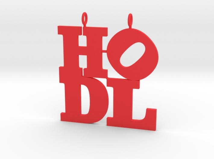HODL pendant 3d printed