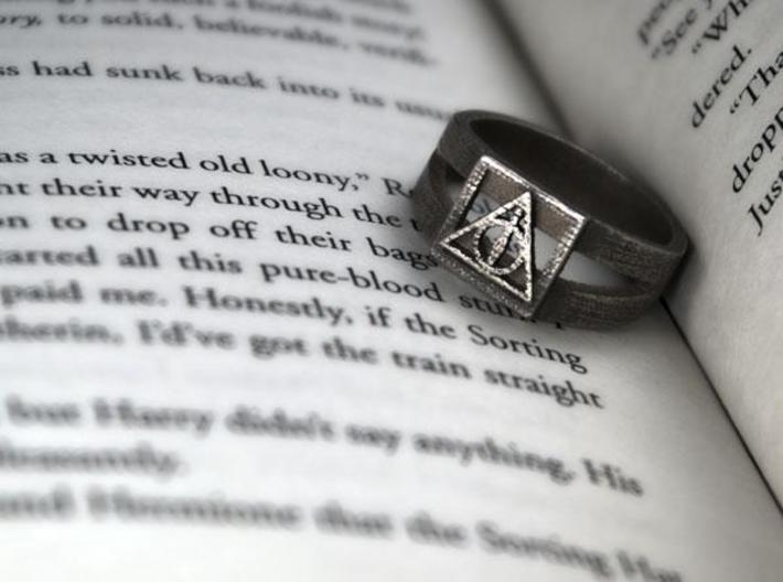 Deathly Hallows Ring Size 8 3d printed 2